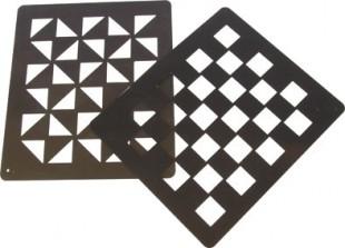 Zdobící šablona vzor šachovnice