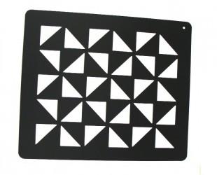 Zdobící šablona vzor triangl