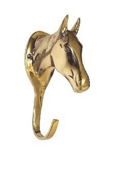 Věšák na uzdečky HKM hlava koně mosaz