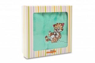 """Dětská deka s výšivkou """"Kočka"""" 100x150 cm"""