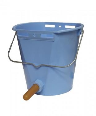 Vědro TETI Blue pro telata s ventilem a cucákem
