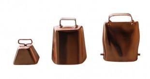 Zvonec ocelový v měděné barvě