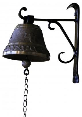 Nástěnný zvonec s držákem 20cm