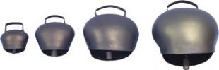 Zvonec plechový ocelově modrý