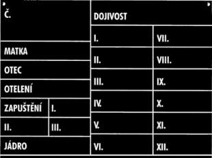 Stájová tabulka D110, krávy 30x40