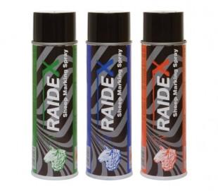 Ovčí značkovací barva RAIDEX spray 500ml