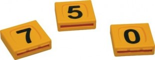 Blok plastový KLASIK žlutý s číslem