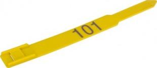 Páska na nohy plastová  KLASIK-Laser žlutá