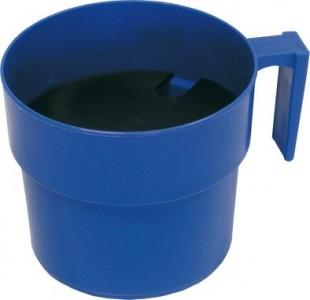 Oddojovací hrnek velký s destičkou modrý