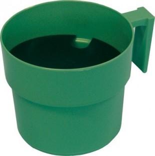 Oddojovací hrnek velký s destičkou zelený