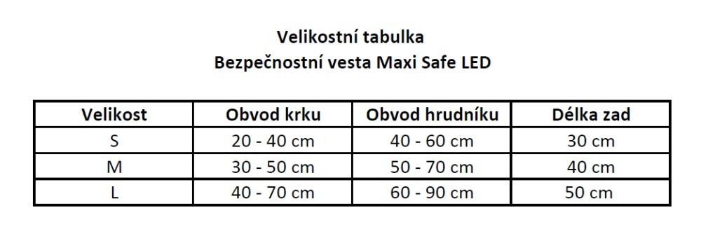 Bezpečnostní vesta MAXI SAFE LED pro psa  - 4