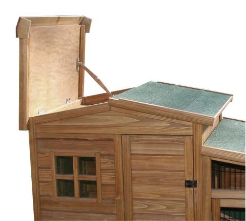 Králíkárna/kurník FORTUNA dřevěná 160x80x117cm  - 2