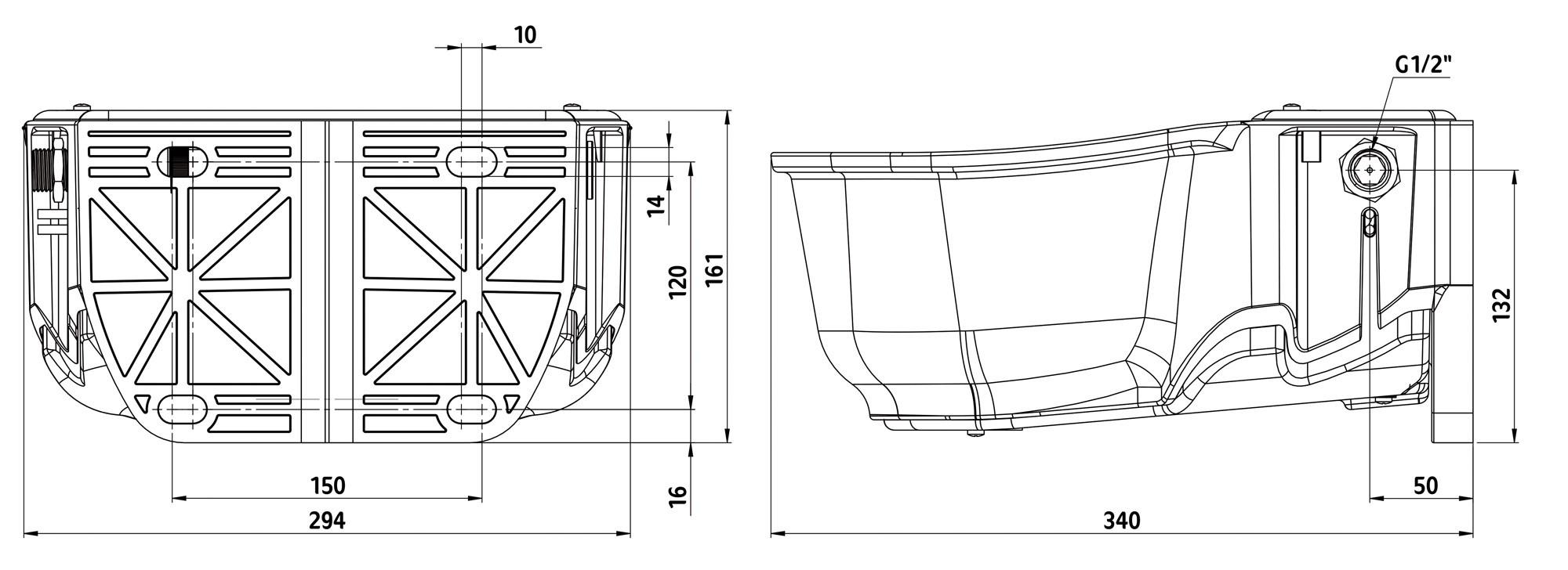 Napáječka hladinová vyhřívaná SH30 230V/31W  - 4