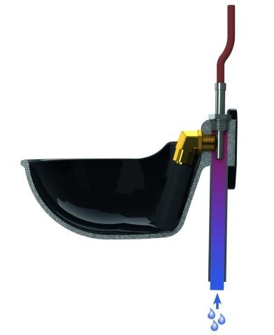 Topné těleso ventilu napáječky 24V/60W, 2,5m kabel  - 2
