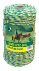 Eurolanko 3mm pro ohradníky bílo-žluto-zelené 100m