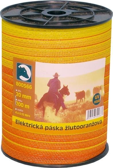 Elektr.páska žlutooranžová 20mm/200m
