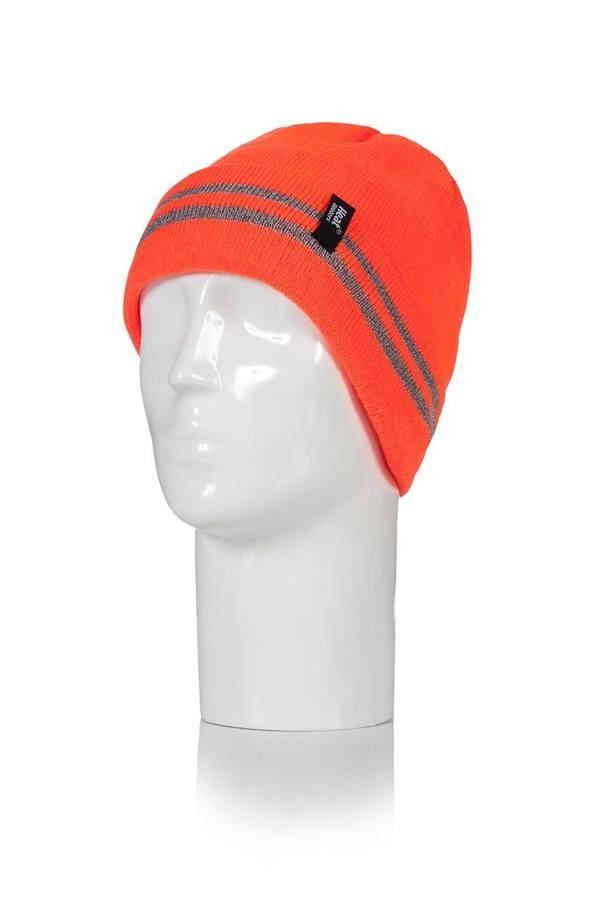 Čepice Heat Holders s reflexními pruhy oranžová