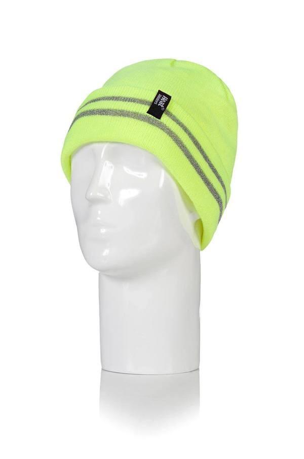 Čepice Heat Holders s reflexními pruhy žlutá