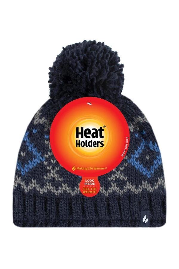 Čepice Heat Holders pánská HELSINKI tm.modrá  - 2