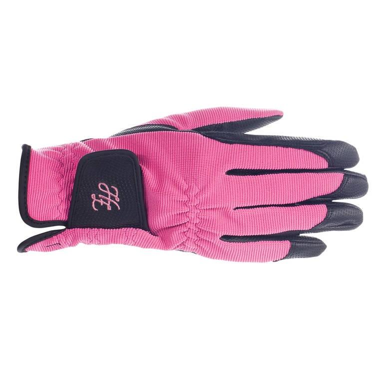 Jezdecké rukavice HORZE Shona 8|růžové