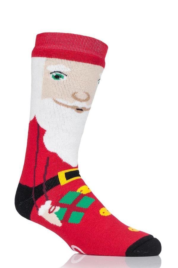Thermoponožky Heat Holders pánské vánoční 39-45 Santa s ABS  - 1
