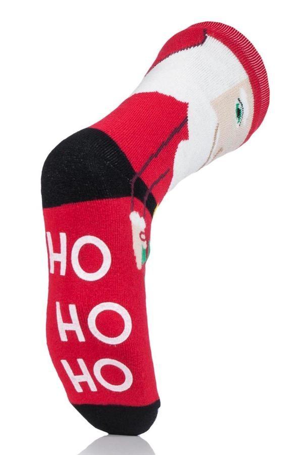 Thermoponožky Heat Holders pánské vánoční 39-45 Santa s ABS  - 3