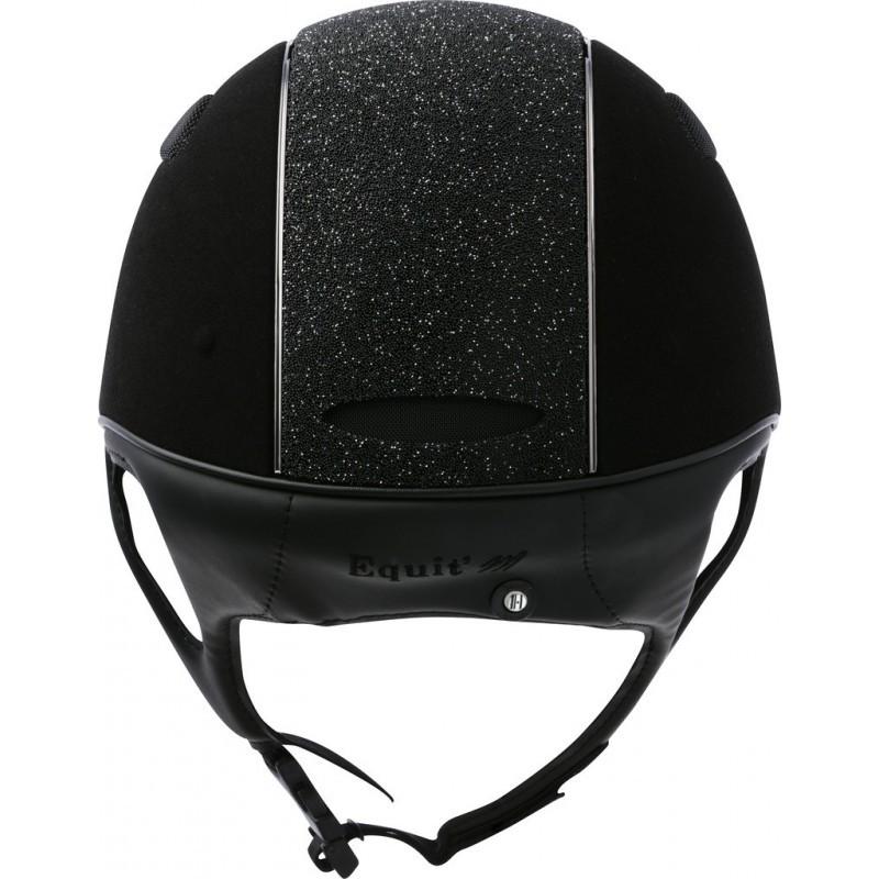 Jezdecká  přilba EQUIT'M Air  umělý semiš/glitry černá  - 2