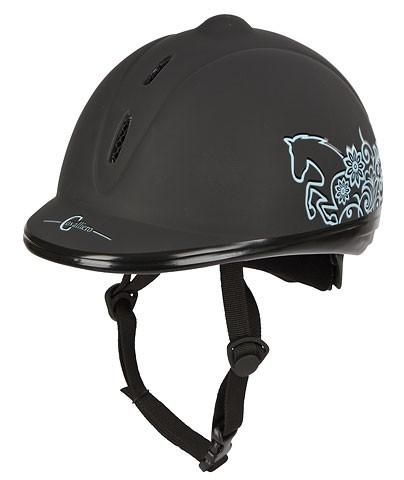 Jezdecká přilba Beauty dětská 52-55cm|černá