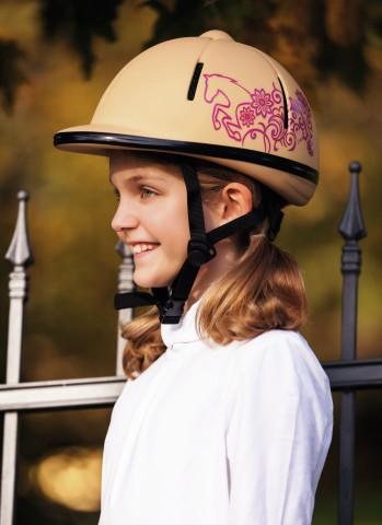 Jezdecká přilba Beauty dětská  - 4