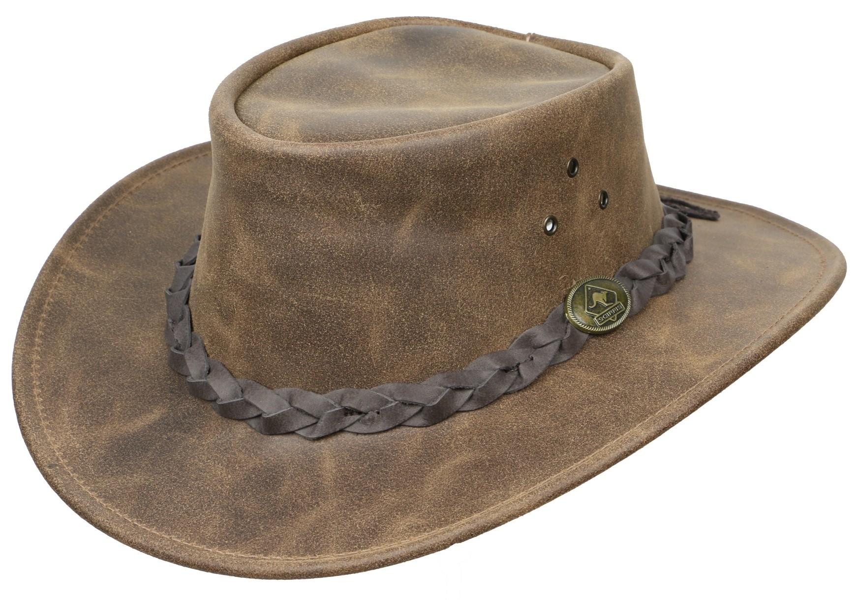 Westernový klobouk SCIPPIS Enfield kožený  - 1