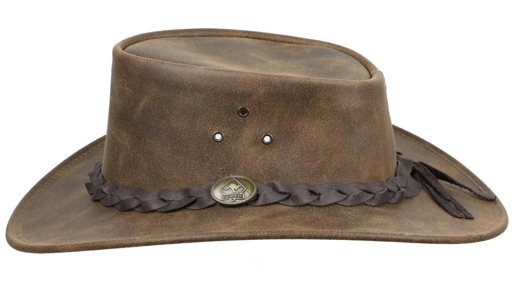 Westernový klobouk SCIPPIS Enfield kožený  - 2