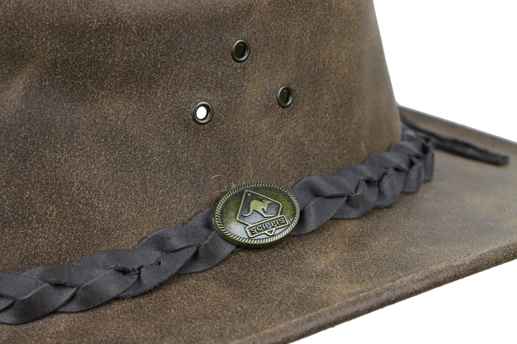 Westernový klobouk SCIPPIS Enfield kožený  - 3