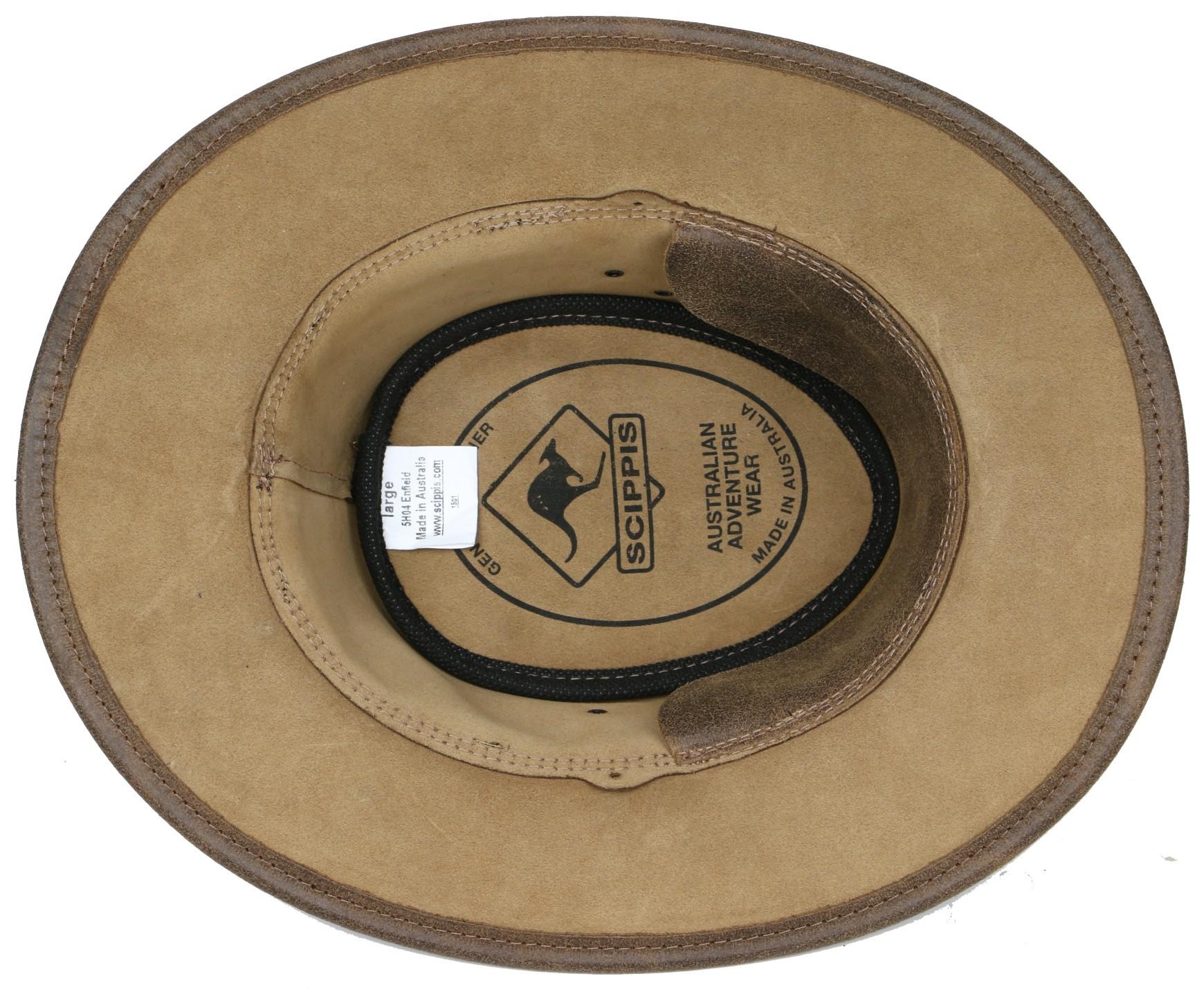 Westernový klobouk SCIPPIS Enfield kožený  - 5